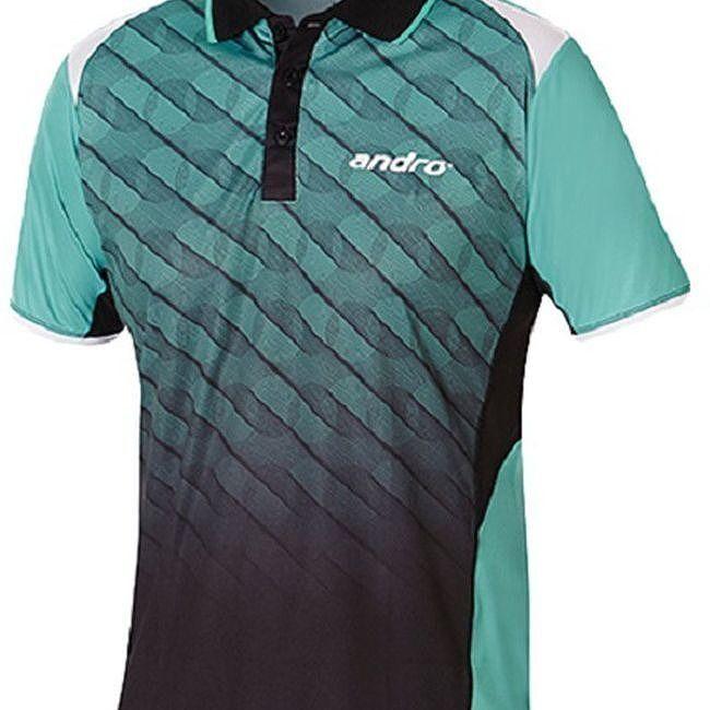 andro(アンドロ) 卓球ゲームシャツ MILOS(ミロス ミントグリーン×ブラック) 302287 【サイズ】S【送料無料】:リコメン堂