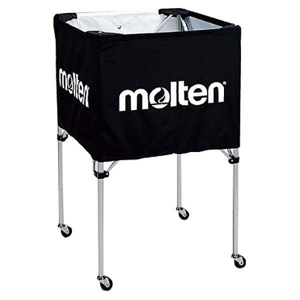 モルテン(Molten) 折りたたみ式ボールカゴ(中・背高 屋内用) 黒 BK20HBK【送料無料】