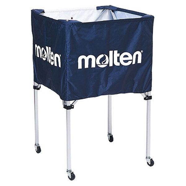 モルテン(Molten) 折りたたみ式ボールカゴ(中・背高 屋内用) ネイビー BK20HNV【送料無料】