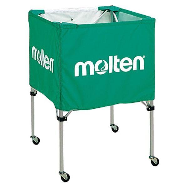 モルテン(Molten) 折りたたみ式ボールカゴ(中・背低) 緑 BK20HLG【送料無料】【S1】