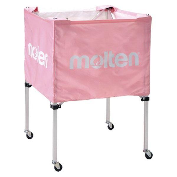 モルテン(Molten) 折りたたみ式ボールカゴ(中・背低) ピンク BK20HLPK【送料無料】
