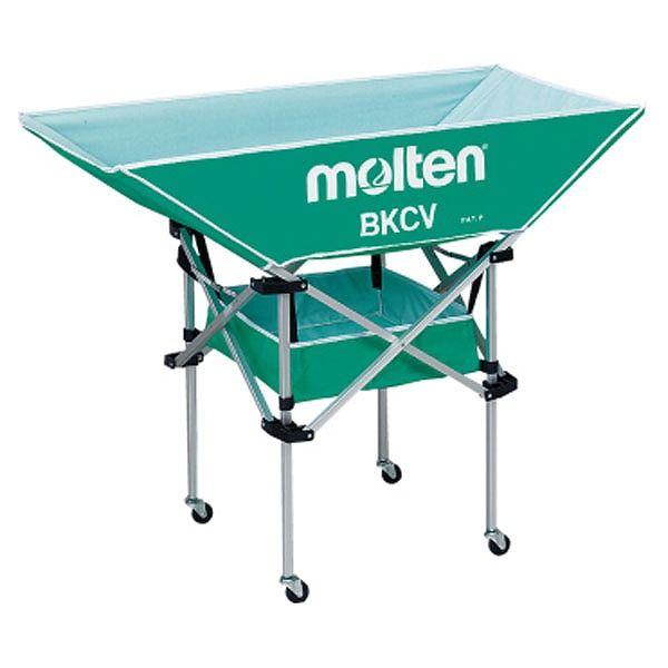 モルテン(Molten) 折りたたみ式平型軽量ボールカゴ(背高) 緑 BKCVHG【送料無料】