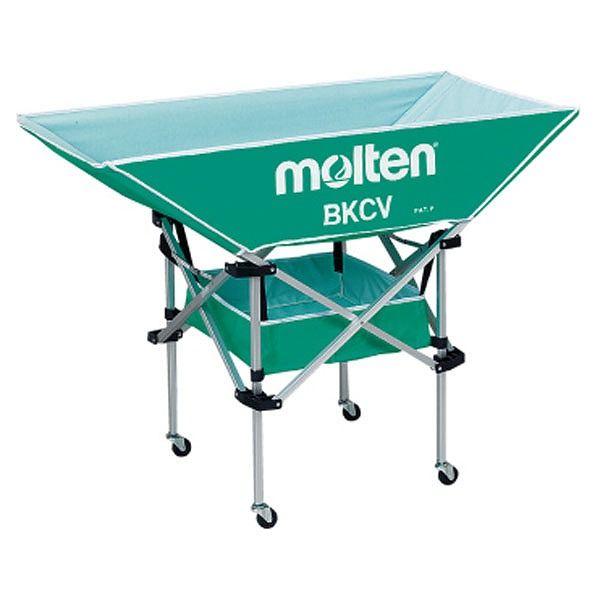 モルテン(Molten) 折りたたみ式平型軽量ボールカゴ(背低) 緑 BKCVLG【送料無料】