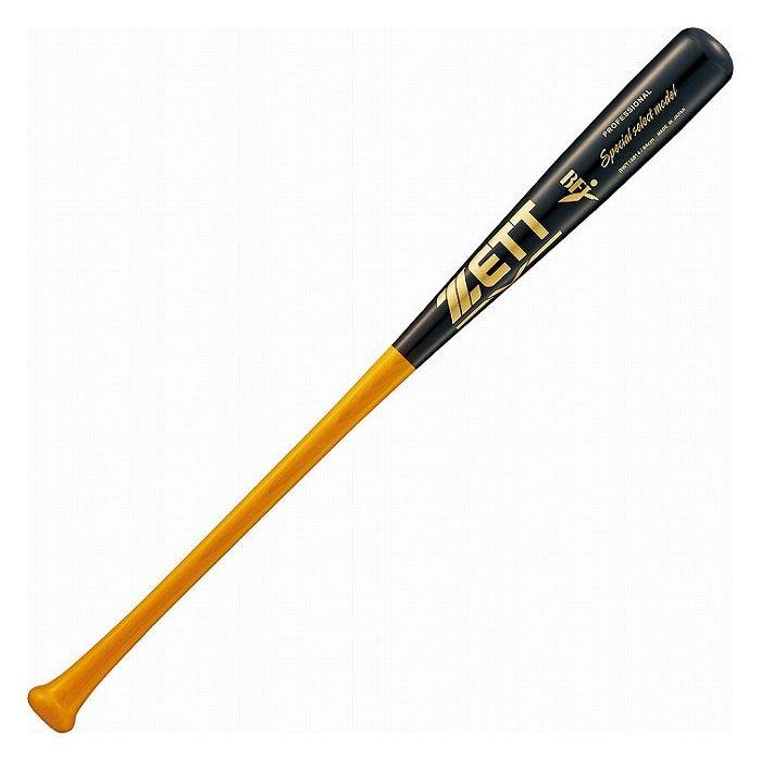 ZETT 硬式木製バット スペシャルセレクトモデル 84cm900g平均 BWT16814 【カラー】ライトイエロー×ブラック【送料無料】