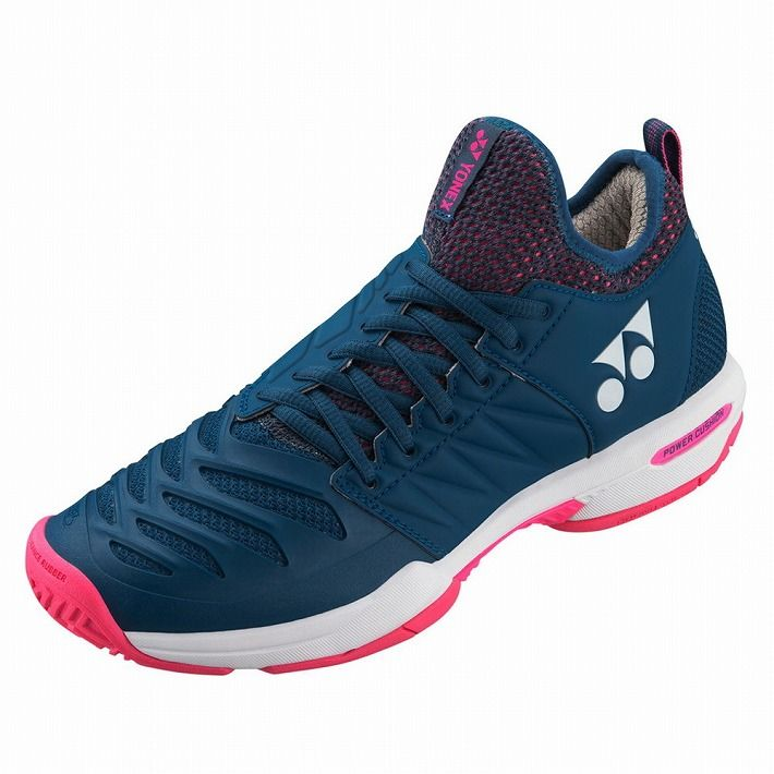 Yonex 【サイズ】24.0 テニスシューズ POWER CUSHION FUSIONREV3 WOMEN MAC SHTF3LAC 【カラー】ネイビー×ピンク