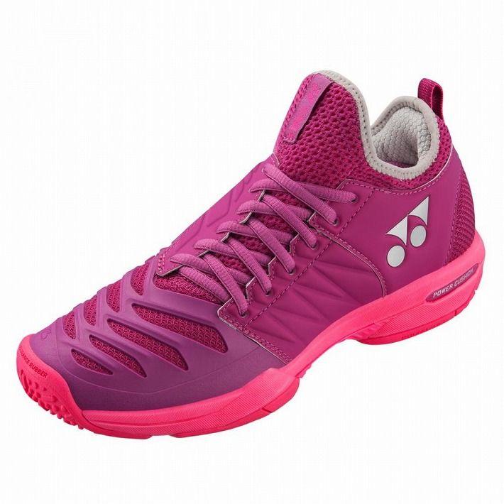 Yonex 【サイズ】24.5 テニスシューズ POWER CUSHION FUSIONREV3 WOMEN GC SHTF3LGC 【カラー】べリーピンク