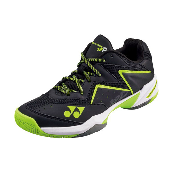YONEX テニスシューズ パワークッション107D クレー/砂入り人工芝コート用 カラー 【ブラック×イエロー】 サイズ【26.5】【送料無料】