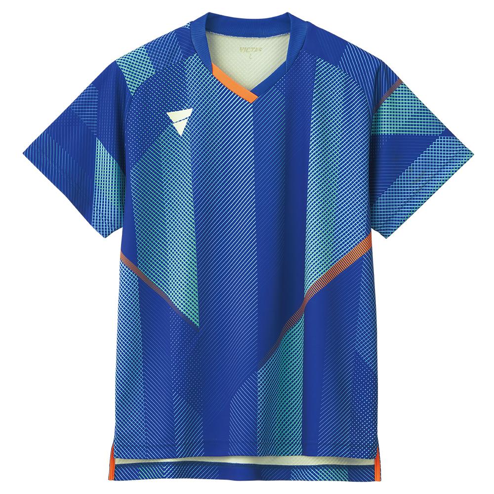 VICTAS 卓球ゲームシャツ V-GS203 男女兼用 031487 【カラー】ブルー 卓球【送料無料】