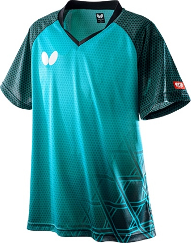 Butterfly 卓球ゲームシャツ LAGOMEL SHIRT ラゴメル・シャツ 男女兼用 45610 【カラー】ターコイズブルー 卓球【送料無料】