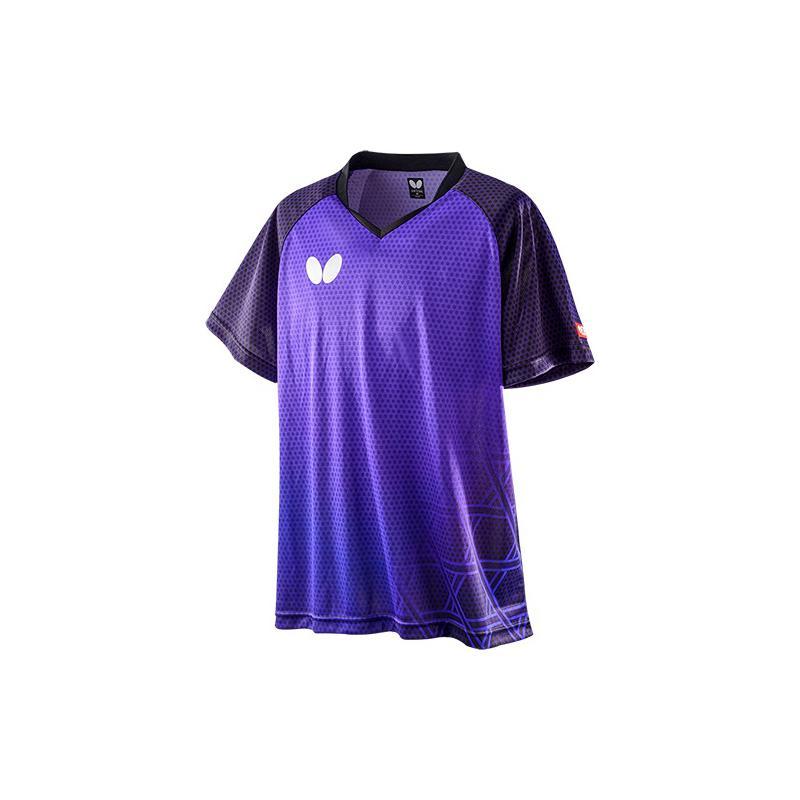 Butterfly 卓球ゲームシャツ LAGOMEL SHIRT ラゴメル・シャツ 男女兼用 45610 【カラー】ロイヤルブルー 卓球【送料無料】