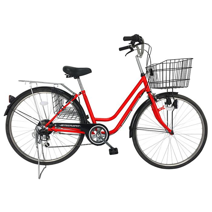 アクティブプラス911自転車 26インチ ノーパンクタイヤ 6段ギア MG-TCG266NF レッド(代引不可)【送料無料】