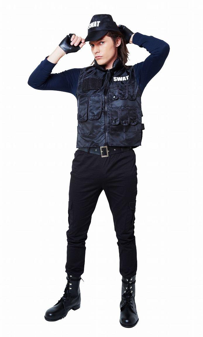 マジカルSWAT メンズ コスプレ 衣装 ハロウィン メンズ(代引不可)【送料無料】