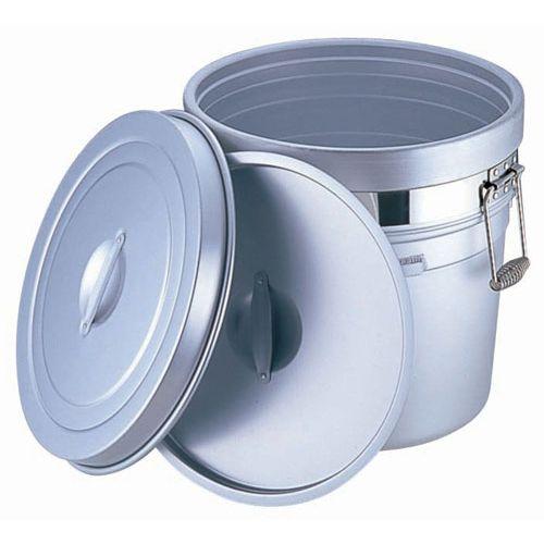 オオイ金属 アルマイト 段付二重食缶 (大量用) 250-X (50l) ASYA003【送料無料】