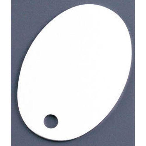 オオイ金属 アルマイト ネームプレート 小判型 378-A (100枚入) APL2701【送料無料】