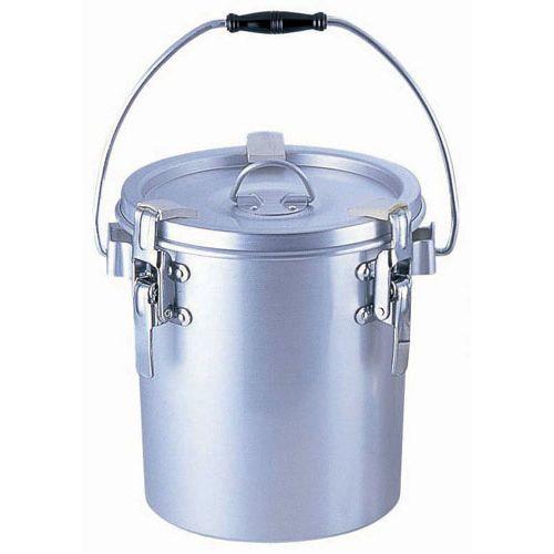 オオイ金属 シルバーアルマイト丸型二重クリップ付食缶 237-B (6l) ASYA102【送料無料】