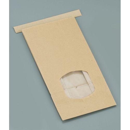 水野産業 クラフト窓付きティンタイ袋(ワイヤー付) M(400枚入) GHK0702【送料無料】