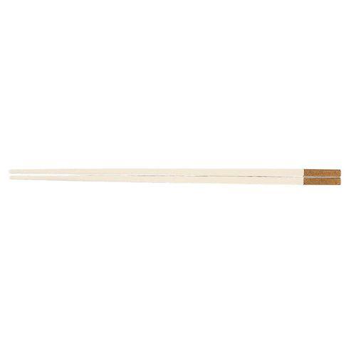 福井クラフト PBT和洋中角箸 ゴールド(10膳入) 白 85915520 TTY3501【送料無料】