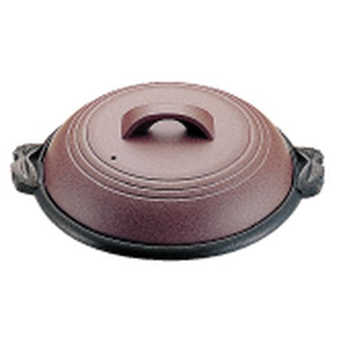 マイン アルミ陶板鍋素焼き茶 大関 30cm M10-542 QTU18542【送料無料】