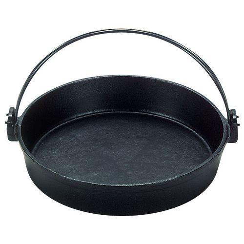 三和精機 保証 S 鉄 すきやき鍋 ツル付 安い 黒ぬり QSK50015 15cm