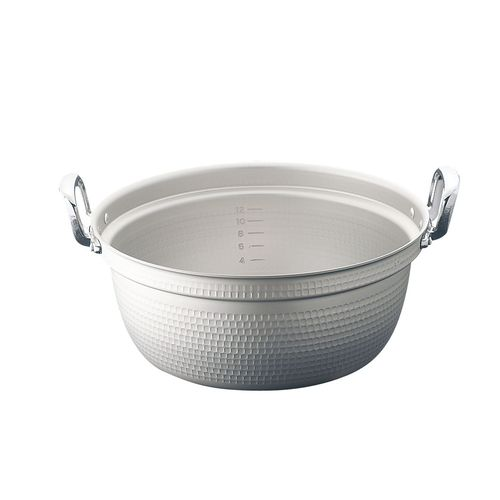 ホクア マイスター アルミ極厚円付鍋 (目盛付)48cm AEV03048【送料無料】