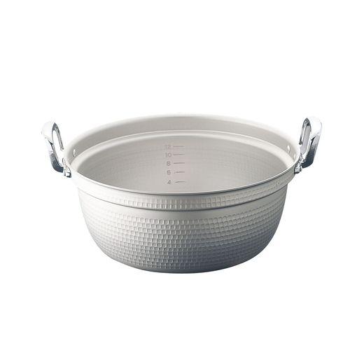 ホクア マイスター アルミ極厚円付鍋 (目盛付)54cm AEV03054【送料無料】