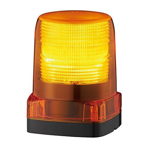 パトライト LEDフラッシュ表示灯黄 LFH-M2-Y