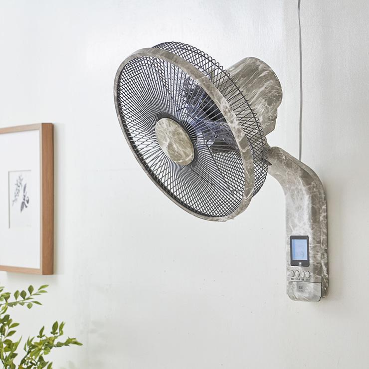 扇風機 壁掛け 壁掛け DC扇風機 大理石調 リモコン式 30cm リモコン式 8の字首振り 立体首振り 5枚羽根 大理石調 風量8段階 タイマー機能付 リビング扇風機【送料無料】, ヌマクマグン:cce5fc24 --- officewill.xsrv.jp