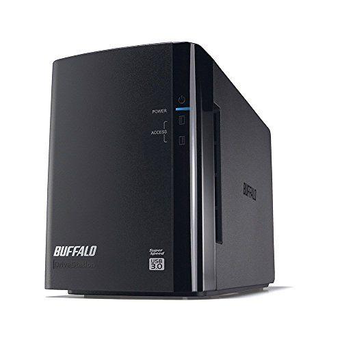 バッファロー RAID1対応 外付けHDD 2ドライブモデル 2TB HD-WH2TU3/R1-C HDD