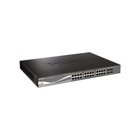 ディーリンクジャパン PoE対応 Smart Proシリーズ 10/100/1000BASE-Tx24 L2スイッチ (4 Combo SFP) DGS-1500-28P(代引不可)