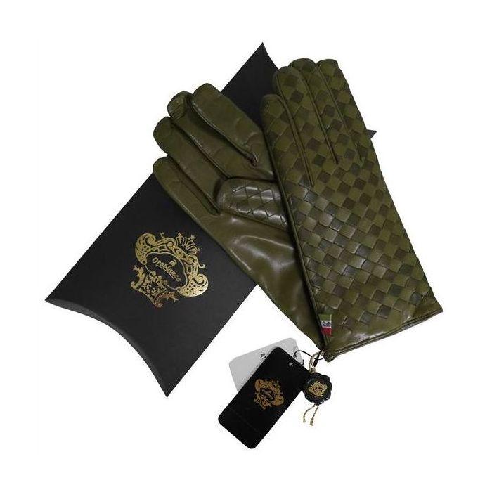 OROBIANCO オロビアンコ メンズ手袋 ORM-1407 Leather glove 羊革 ウール KHAKI サイズ:8(23cm) ギフト プレゼント クリスマス【送料無料】