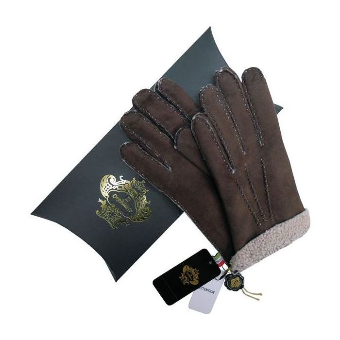 OROBIANCO オロビアンコ メンズ手袋 ORM-1409 Leather glove 羊革 DARKBROWN BEIGE サイズ:8(23cm) プレゼント クリスマス【送料無料】