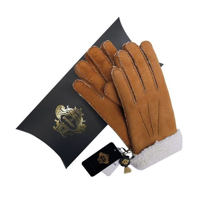 OROBIANCO オロビアンコ メンズ手袋 ORM-1410 Leather glove 羊革 CAMEL MINT サイズ:8(23cm) ギフト プレゼント クリスマス【送料無料】