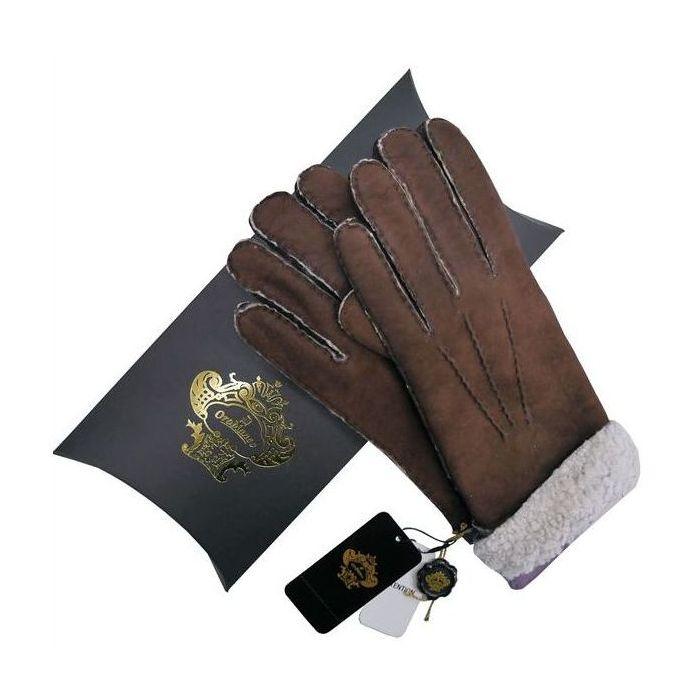 OROBIANCO オロビアンコ メンズ手袋 ORM-1410 Leather glove 羊革 DARKBROWN LAVENDER サイズ:8.5(24cm) プレゼント クリスマス【送料無料】