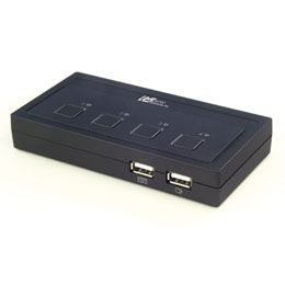 ラトックシステム USB接続 (4台用) ミニBOXタイプ REX-430U CPU切替器(KVM)(代引き不可)