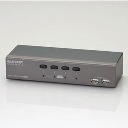 パソコン切替器KVM-NVU4 エレコム(代引き不可)
