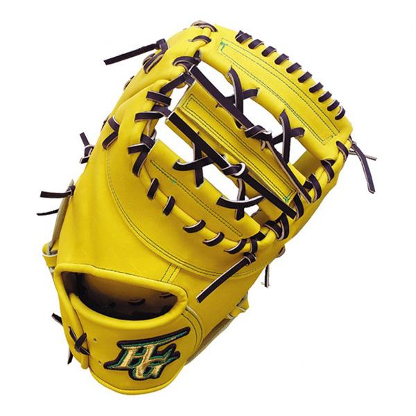 ハイゴールド HI-GOLD WKG-F2 技極 硬式ファーストミット Nイエロー/ブラック 野球 一般硬式用【送料無料】