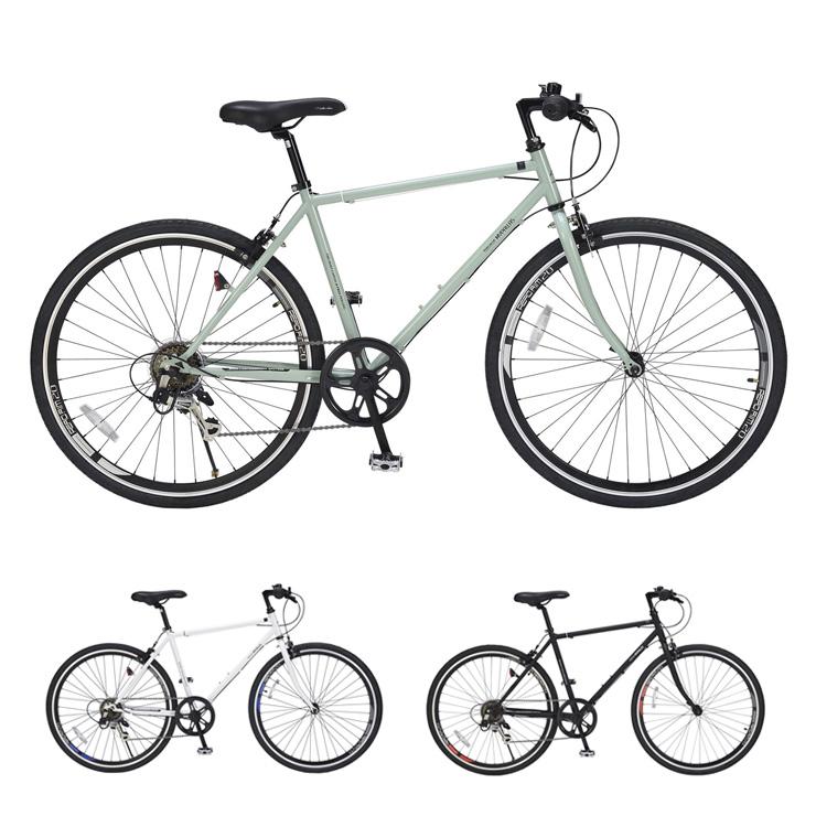 マイパラス 自転車 クロスバイク 26インチ M-605 シマノ製6段ギア MYPALLAS 通学 通勤(代引不可)【送料無料】