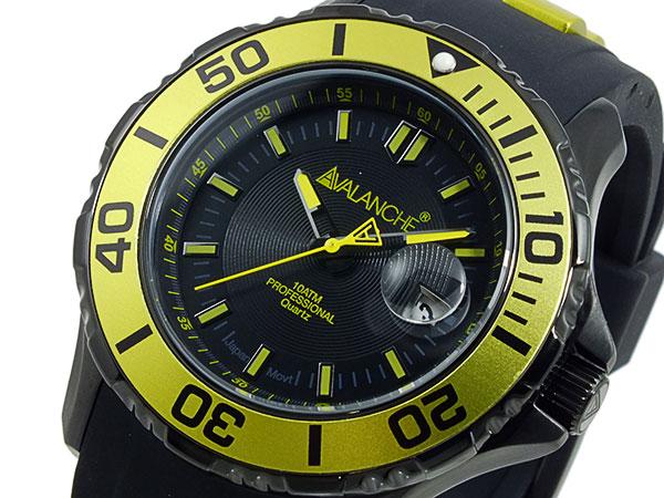 アバランチ AVALANCHE 腕時計 AV-1023S-YW イエロー×ブラック