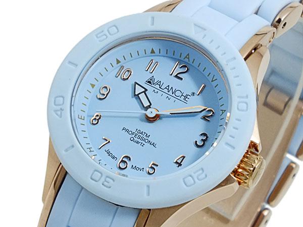 アバランチ AVALANCHE 腕時計 AV-1025-BURG ライトブルー×ローズゴールド