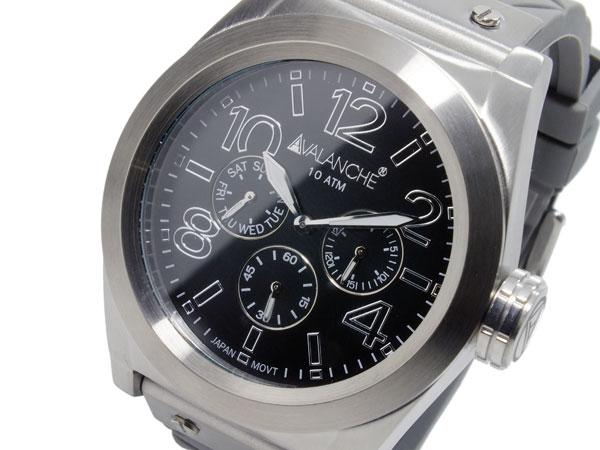 アバランチ AVALANCHE クオーツ メンズ 腕時計 AV1027-GYSIL