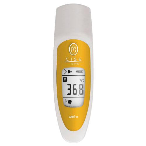 ユビックス 非接触放射体温計 CISE(シーゼ) 01TEタイプ カラー:イエロー CSE-01/YL【送料無料】