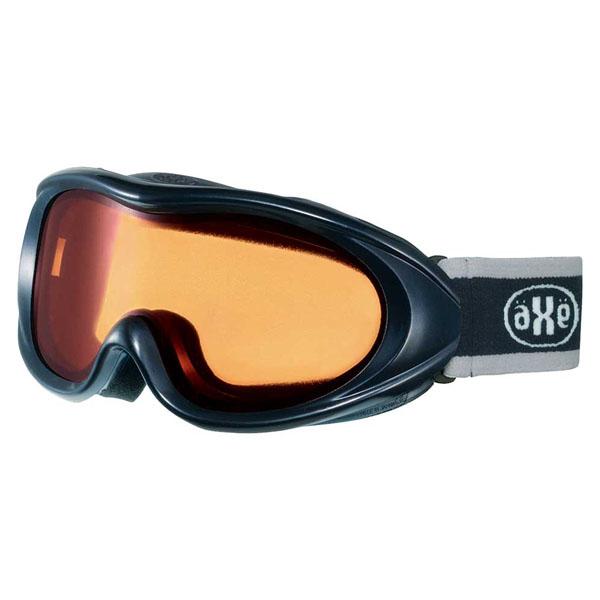 AXE(アックス) スキー ゴーグル 男性用 AX460ST BK ブラック×オレンジ
