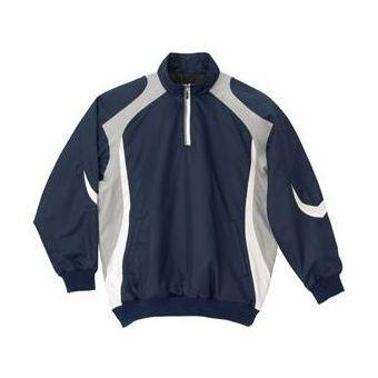 デサント(DESCENTE) 長袖プルオーバーコート STD428 NVY ネイビー×シルバー×ホワイト【送料無料】