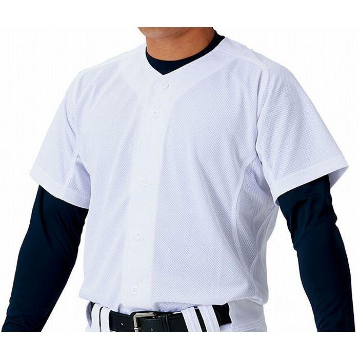 ZETT(ゼット) ユニフォーム メッシュフルオープンシャツ BU1181MS 【カラー】ホワイト 【サイズ】O7:リコメン堂スポーツ館