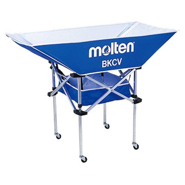 モルテン(Molten) 折りたたみ式平型軽量ボールカゴ(背高) 青 BKCVHB【送料無料】
