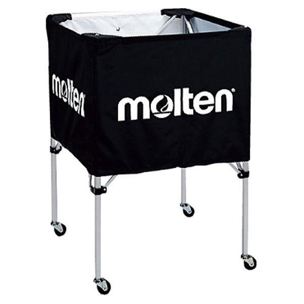 モルテン(Molten) 折りたたみ式ボールカゴ(中・背低) 黒 BK20HLBK【送料無料】