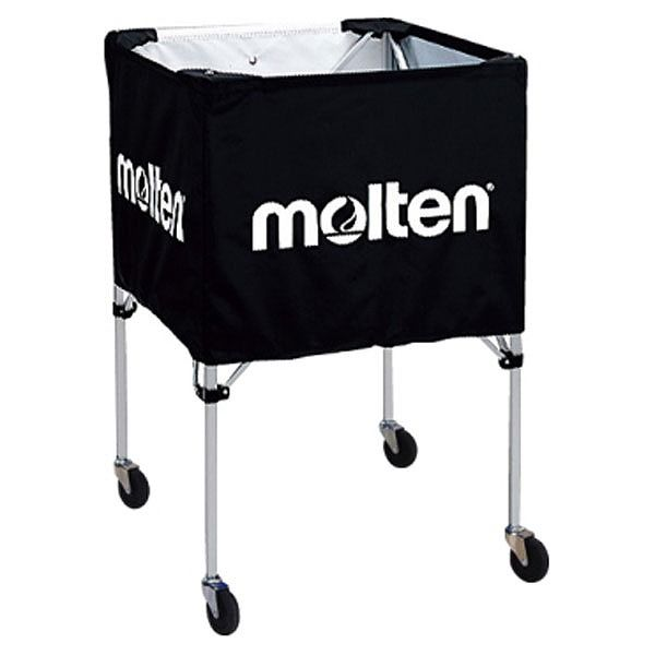 モルテン(Molten) 折りたたみ式ボールカゴ(屋外用)黒 BK20HOTBK【送料無料】