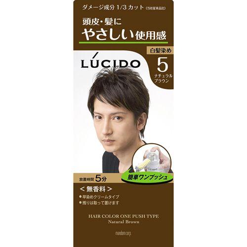 ルシード ワンプッシュケアカラー 5☆大好評 S1 全品送料無料 ナチュラルブラウン