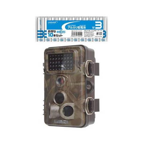 サンコー 自動録画防犯カメラ RD1006AT + アルカリ乾電池 単3形10本パックセット AUTMTSEC+T3(代引不可)【送料無料】