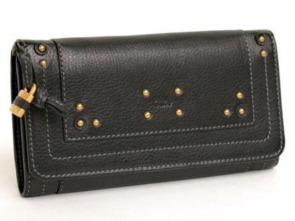 クロエ(Chloe) ホック二つ折り長財布 7AP006-7E422-001 BLACK(ブラック) 【送料無料】